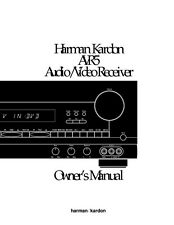 Harman Kardon AVR-5 AV Receiver Owners Manual