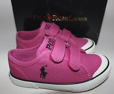NIB RALPH LAUREN Girl's Preppy Pink/Black Pony CHAZ EZ Slip On Shoe 9 Toddler