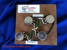50's Wiring Harness .022uf PIO Caps Short Shaft Pots Fits Gibson | EPI Les Paul