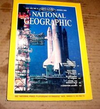 NATIONAL GEOGRAPHIC MARCH 1981 SPACE SHUTTLE;ILLEGAL ANIMAL TRADE;THOREAU