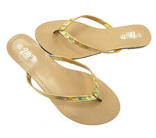 Ladies Women's Slip On Summer Toe Post Beach Flip Flops All Sizes