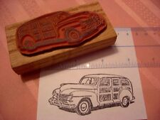1946-8 Plymouth Woodie (Chrysler Mopar) Car RUBBER STAMP- Woody wagon! 1947 1948