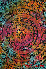 Indian Tapestry Wall Hanging Mandala Twin Hippie Bedspread Bohemian Decor Throw