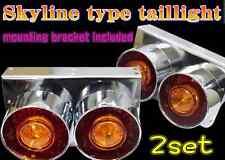 2pcs Skyline tail Lights 24V Remodeling tail lamp JDM datsun nissan240K Dekotora