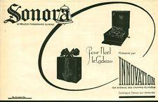 Publicité ancienne Phonographe Sonora  issue de magazine 1924 M. Leboeuf