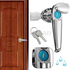 Universial Waterproof Zinc Alloy Cabinet Cam Locks Handle Knob Door Entry +2Keys