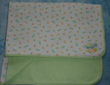 Carters Just One Year Cute As Can Bee Baby Blanket Turtle Bugs Green White