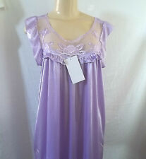 LILAC MAUVE PURPLE  SLEEVELESS SHORT NIGHTGOWN CHEMISE SLEEPWEAR POLYESTER M / L