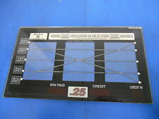 Bally Gaming Inc Slot Machine Reel Glass Multiple Pay Line