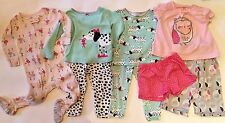 Carter's - Baby Girl Pajamas (Lot of 4 Sets) - Size: 12 months