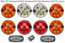 RDX Td5 Tdci LED Coloured 8 Lamp/lights Kit + Side Repeaters Land Rover Defender