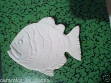 FISH TEABAG HOLDER CERAMIC U PAINT JEWELRY tray dish spoon Rest hand made
