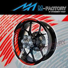 """For Suzuki Motorcycle #GP2 Red Fluorescent 17"""" Wheel Sticker Rim Decals"""