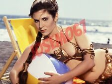 Carrie Fisher Star Wars (Slave Leia Costume) 8x10 Photo #2