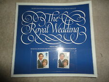 Charles and Diana POST OFFICE Souvenir Stamps 1981