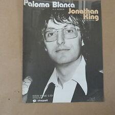 song sheet PALOMA BLANCA Jonathan King, 1975