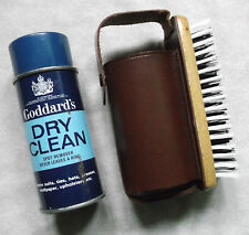 VINTAGE SHOE SHINE POLISH SET OR CLOTHES BRUSH COWHIDE LEATHER 1950'S 1960'S MOD