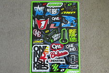ONE INDUSTRIES LOGO YZ KXF KX  UNIVERSAL GRAPHICS STICKERS 12X18 SHEET  DECALS
