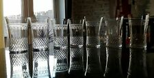 7 antique Edwardian Pall Mall Lady Hamilton cut water/juice glasses, VGC 577