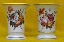 Pair of Georgian CHAMBERLAINS WORCESTER Match Pots Miniature VASES c1790's-1810