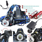 2000LM XM-L XML T6 LED Headlamp Headlight Zoomable Head Lamp 18650 3 Modes