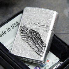 Zippo You Can Fly Higher Wing Emblem Street Chrome USA Genuine Classic Lighter
