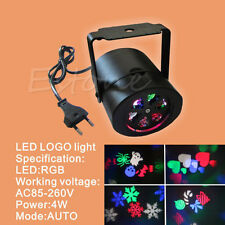 16Patterns 4W Laser Projector RGBW LED Stage Lighting DJ Xmas Party Effect Light
