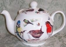Roy Kirkham Fine English Bone China 6 Cup Teapot Tea Pot GARDEN BIRDS