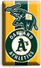 OAKLAND ATHLETICS BASEBALL TEAM PHONE TELEPHONE WALL PLATE COVER BOYS ROOM DECOR