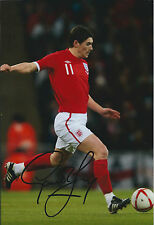 Gareth BARRY SIGNED Autograph 12x8 Photo AFTAL COA England World Cup RIO