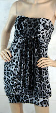 Sexy Animal Print Leopard Spots Big Cat Tube Top Sequined Mini Dress 2 Sizes USA