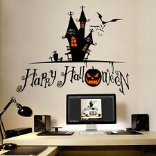 De Halloween Desmontable Pegatina Pared Adhesivo Gruselhaus Decoración