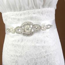 Bridal Sash Wedding Belt Crystal Diamante Dress Rhinestone Beaded Waistband
