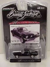 Auction Block # 4 Greenlight 1968 Ford Mustang Cobra Jet black & white colors