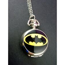 DC BATMAN Child Women Ladies Girl Men Fashion Pocket Pendant Watch Necklace