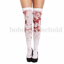 White Bloody Stockings Blood Stained Socks Halloween Props Zombie Fancy Dress