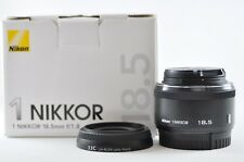 [Exc⁺⁺] Nikon 1 NIKKOR 18.5mm F1.8 RF Black Lens For Nikon 1