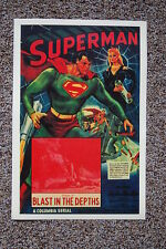 Superman Lobby Card Movie Poster Blast in the Depths