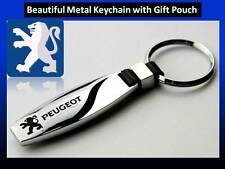 Peugeot 107, 206, 207, 208, 308 Beautiful Car keychain key ring with Gift Pouch