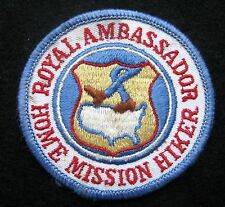 ROYAL AMBASSADOR HIKER EMBROIDERED SEW ON PATCH HOME MISSION CLUB ASSOCIATION