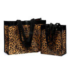 Small/Large Reusable Leopard Waterproof Tote Bag Shopping Beach Storage Bags