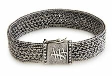 Sterling Silver Bracelet Men's .925 Art Wristband 'Live Long' NOVICA Bali