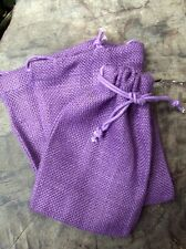 Burlap Drawstring Favor Gift Bags Dark Lavender, Purple 5x7 - Pack of 8