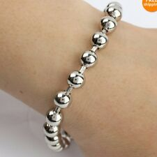 Lot 5pcs 6mm Stainless Steel Shiny Ball chain Bracelet Women Fave Silver Jewelry