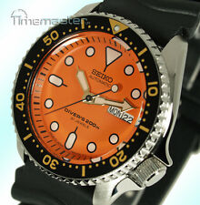 SEIKO PRO DIVERS 200m AUTOMATIC ORANGE FACE RUBBER STRAP SKX011J1 SKX011