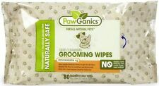 PawGanics Naturally Safe Pet Grooming Wipes 80 count - New