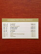 CFB 1979 GEORGIA TECH YELLOW JACKETS  Football Schedule College CUERVO TEQUILA