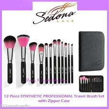 NEW Sedona Lace 12-Piece TRAVEL SYNTHETIC PROFESSIONAL Brush Set FREE SHIPPING