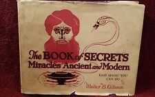Vintage 1927 The Book of Secrets Miracles Ancient and Modern - Magic - Jacket