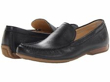 New Frye Lewis Venetian Mens Black Moc Leather Loafers Shoes Size 12